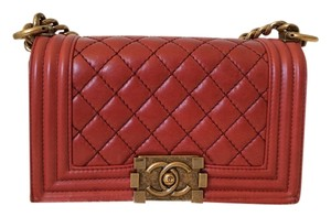 Chanel Quilted Leather Boy Shoulder Bag