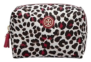 Tory Burch Tory Burch Bridgitte Leopard Print Cosmetic Bag, Carnation