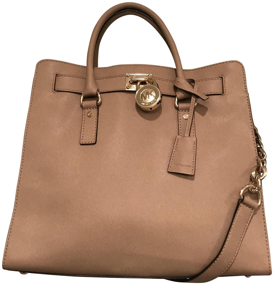 11ddbd8960dd Michael Kors Hamilton Ns Large Saffiano Khaki Tan Leather Tote - Tradesy