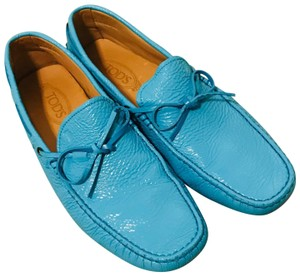 Tod's Turquoise Blue Flats