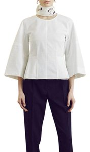 Protagonist Shirt Flare Sleeve Wide Sleeve Top White