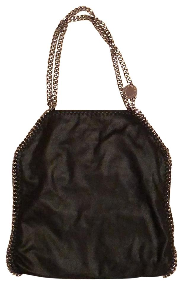 b724accc1a34 Stella McCartney Falabella Large Shaggy Deer Tote Black and Silver ...