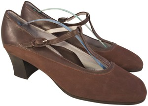 BeautiFeel Arch Support Mary Janes Made In Israel brown Pumps