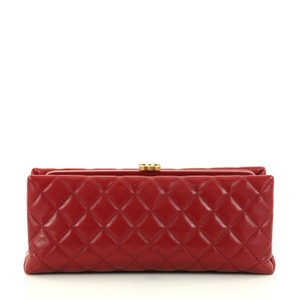 Chanel Clasp Red Clutch