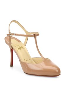 Christian Louboutin Me Pam Stiletto Ankle Strap Pigalle nude Pumps