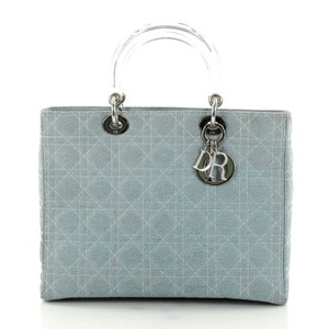 Dior Christian Vintage Lady Tote in Light Blue