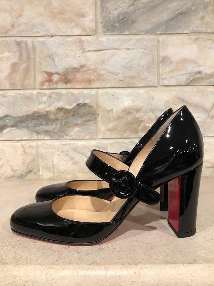sports shoes 556f8 b633a Christian Louboutin Black Miss Kawa 85 Patent Mary Jane Strap Heel Pumps  Size EU 42 (Approx. US 12) Regular (M, B)