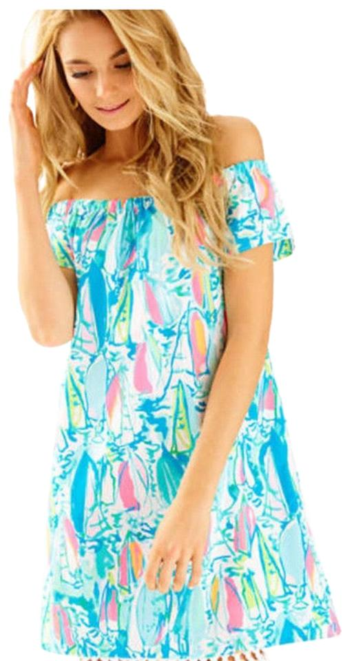 Lilly Pulitzer Beach And Bae Marble Short Casual Dress Size 16 Xl