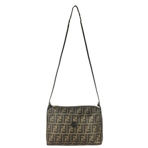 b86e4851cade Fendi Vintage Classic Signature Large Gold Hardware Cross Body Bag
