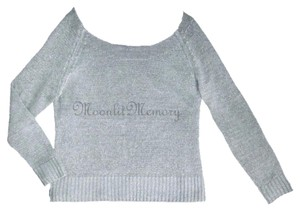 Garnet Hill Silver Linen Metallic Sweater