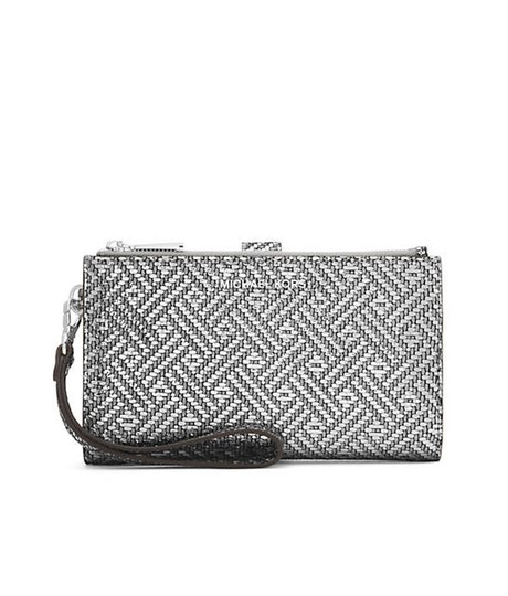 Preload https://img-static.tradesy.com/item/22863471/michael-kors-silver-jet-set-double-zip-leather-iphone-7-wristlet-wallet-0-0-540-540.jpg