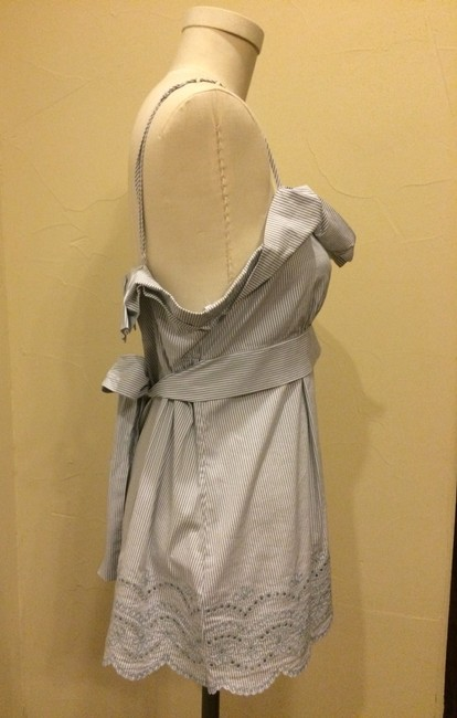 BCBGMAXAZRIA Going Out Blouse Dvf Helmut Lang Theory Free People Vince Top White Blue