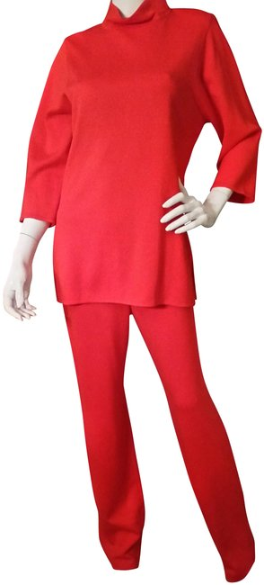 Preload https://img-static.tradesy.com/item/22863659/st-john-flamered-new-st-john-red-dress-pant-and-top-size-6-and-small-flame-2pc-set-pant-suit-size-6-0-1-650-650.jpg
