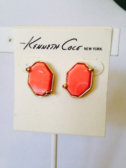 "Kenneth Cole 2 Piece Set NWOT Orange "" Color Splash"" Multi-Chain Necklace & Earrings"