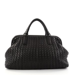 Bottega Veneta Nappa Satchel in Black