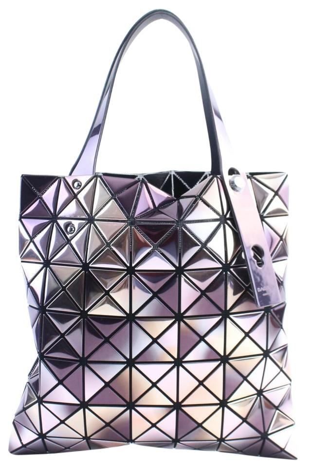 Issey Miyake Lucent Metallic 13mr0205 Holographic Purple Pvc Tote ... f5281cea5cf20
