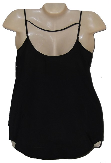 Bisou Bisou Sequin Hi Lo Chiffon Size S New With Tags Top Black