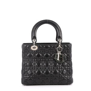 Dior Christian Cannage Tote in Black