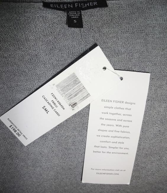 Eileen Fisher Superfine Wool Crepe Washable Oversized Fit Fluid Patch Pockets Cardigan Image 2