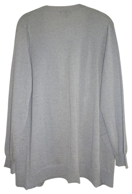 Eileen Fisher Superfine Wool Crepe Washable Oversized Fit Fluid Patch Pockets Cardigan Image 5
