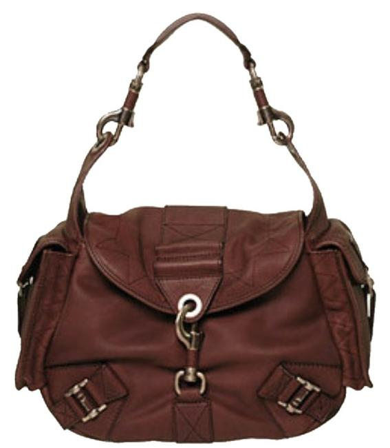 Dior Rebelle Brown Leather Suede Hobo Bag Dior Rebelle Brown Leather Suede Hobo Bag Image 1