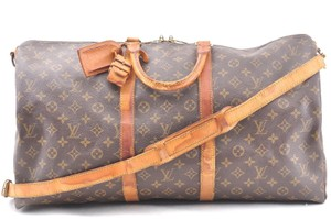 Louis Vuitton Monogram Canvas Boston Keepall Brown Travel Bag