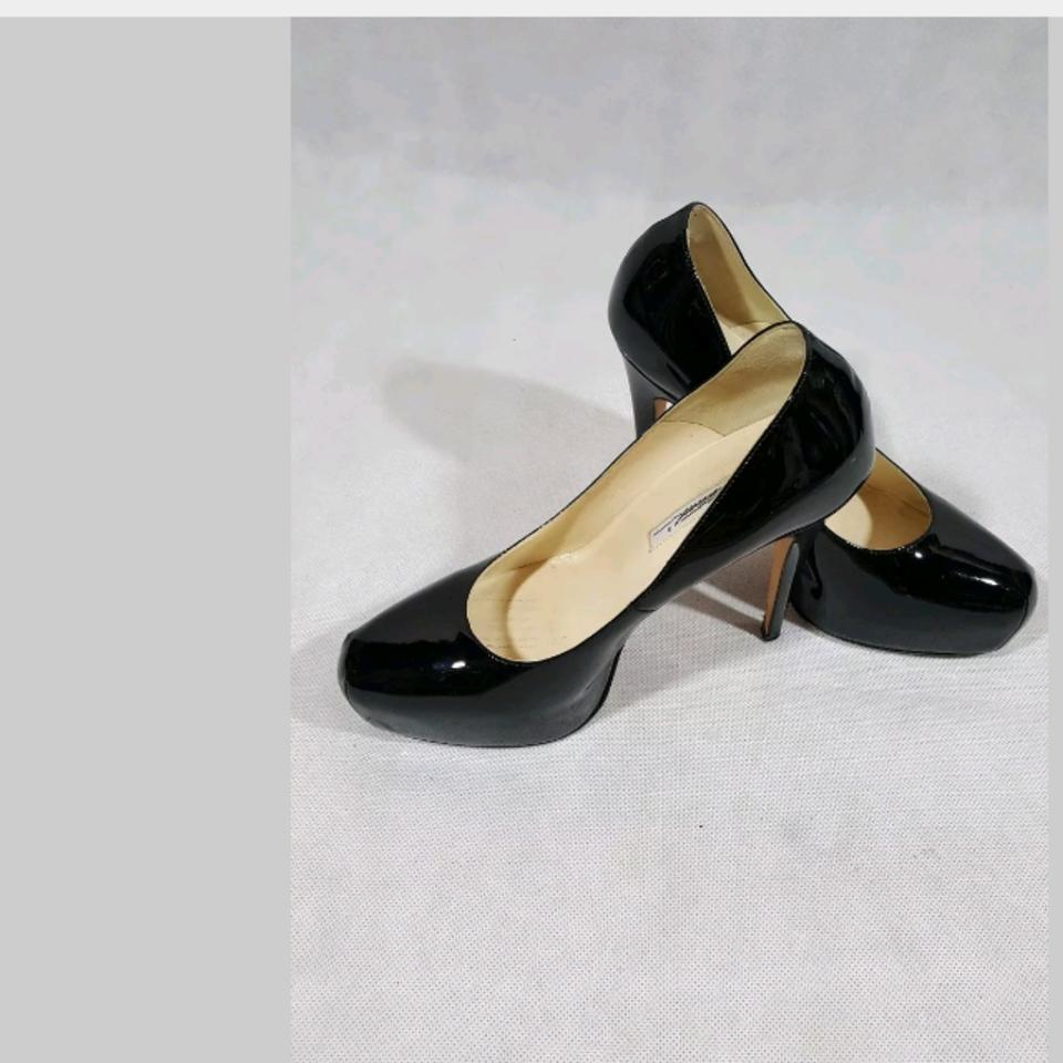 Brian Atwood Black Patent Leather Leather Leather Pump Platforms 177ac8