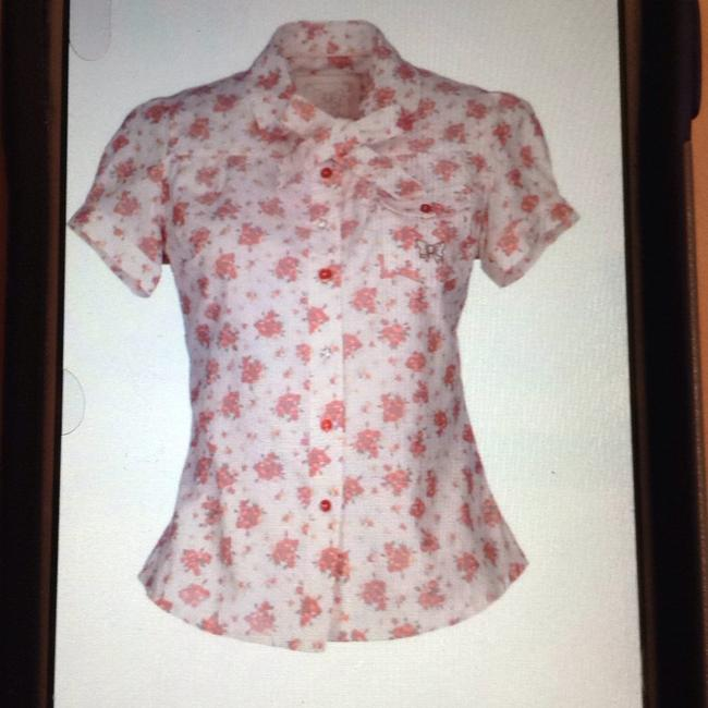 Atelier Fixdesign Top white with flowers Image 1
