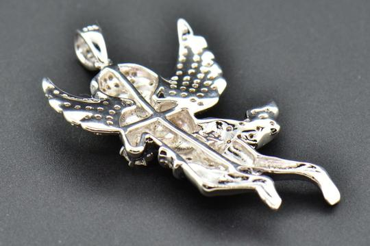 Jewelry For Less Diamond Mini Angel 3D Pendant .925 Sterling Silver Charm 0.55 CT Image 6