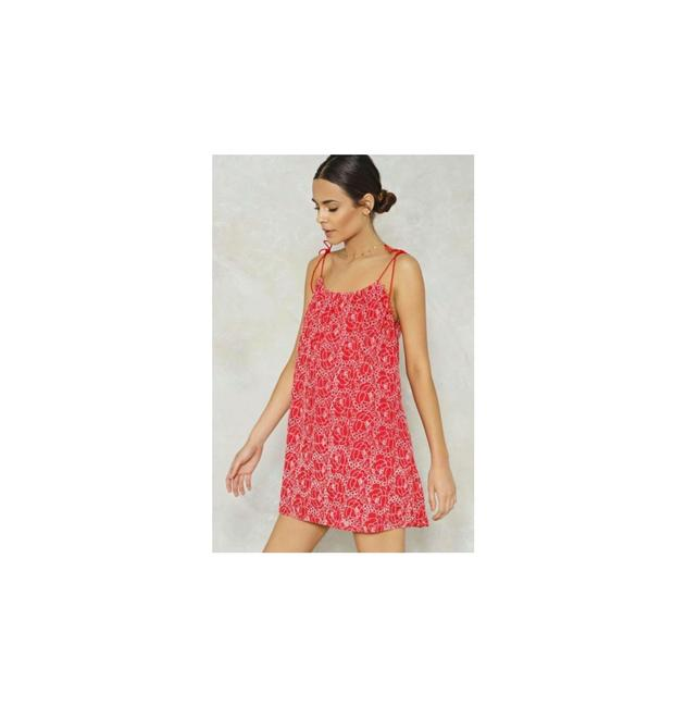 Item - Red Collection Petal Or Nothing Embroidered Mini Short Casual Dress Size 8 (M)