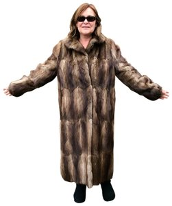 Other Muskrat Imported Bohemian Full Length Fur Coat