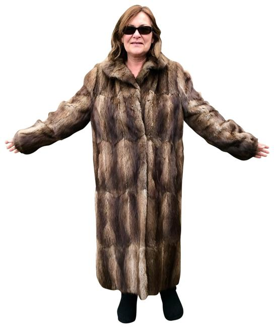 Other Muskrat Imported Bohemian Full Length Fur Coat Image 0