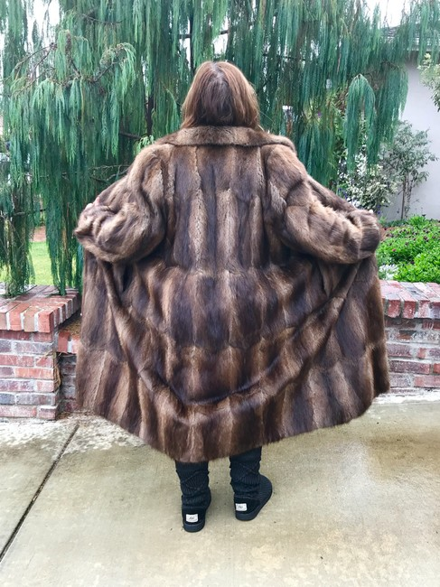 Other Muskrat Imported Bohemian Full Length Fur Coat Image 1