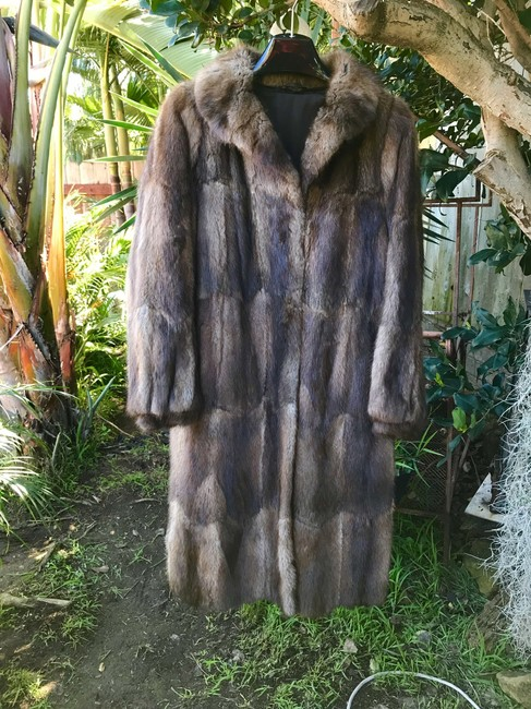 Other Muskrat Imported Bohemian Full Length Fur Coat Image 2