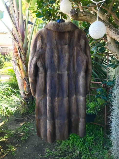 Other Muskrat Imported Bohemian Full Length Fur Coat Image 3