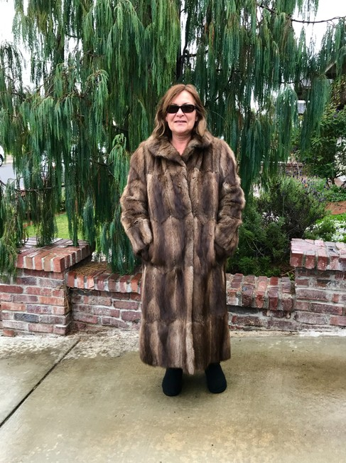 Other Muskrat Imported Bohemian Full Length Fur Coat Image 4