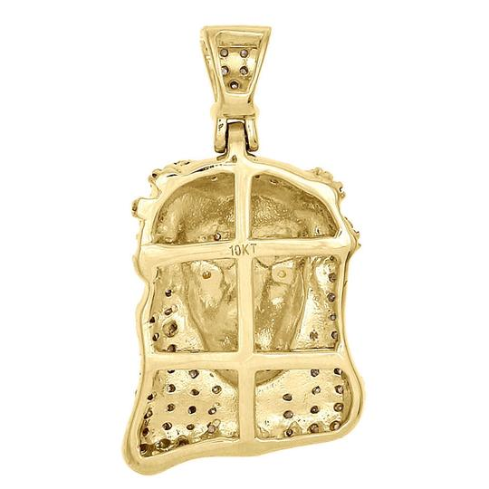 Jewelry For Less 10K Yellow Gold Round Diamond Jesus Piece Pendant Mens Charm 0.40 Ct. Image 2