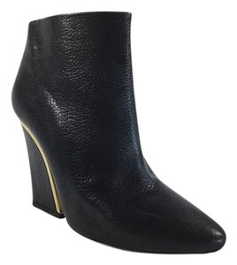 Chlo Beckie Leather Black Boots