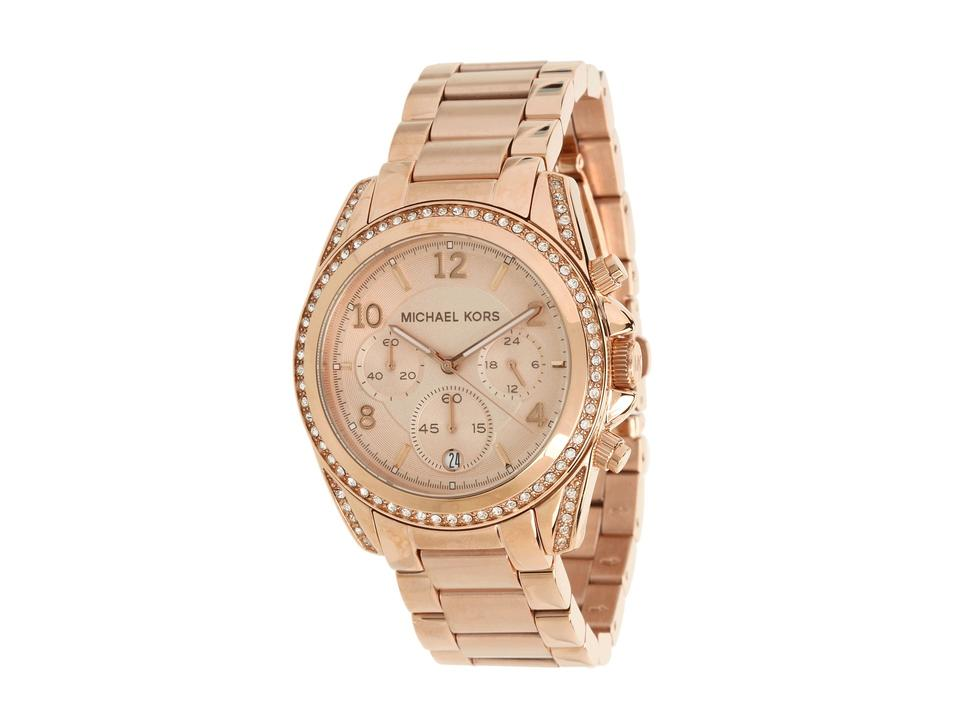 a13c6a89d Michael Kors Michael Kors Watches Ladies Rose Gold Blair Watch MK5263 Image  0 ...