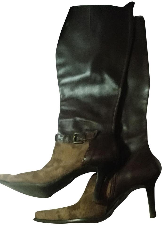 d8fd4d15ca0 Franco Sarto Two-tone Knee-high Suede Brown light brown Boots Image 0 ...