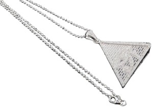 Jewelry For Less Diamond Eye of Ra Pyramid .925 Sterling Silver 0.60 Ct Pendant w/Chain
