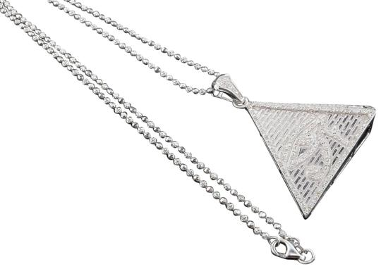 Preload https://img-static.tradesy.com/item/22864872/jewelry-for-less-silver-diamond-eye-of-ra-pyramid-925-sterling-060-ct-pendant-wchain-charm-0-1-540-540.jpg
