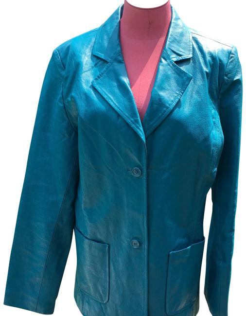 Metrostyle Leather Jacket Sky Blue sky blue Leather Jacket Image 0