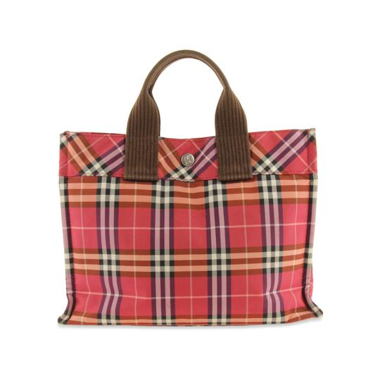 Preload https://img-static.tradesy.com/item/22864931/burberry-house-check-top-handle-pink-nylon-tote-0-2-540-540.jpg