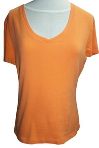 North Crest V-neck T Shirt Tangerine Orange