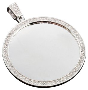 Jewelry For Less Diamond Customizable Medallion Pendant Sterling Silver .60 Ct. Charm