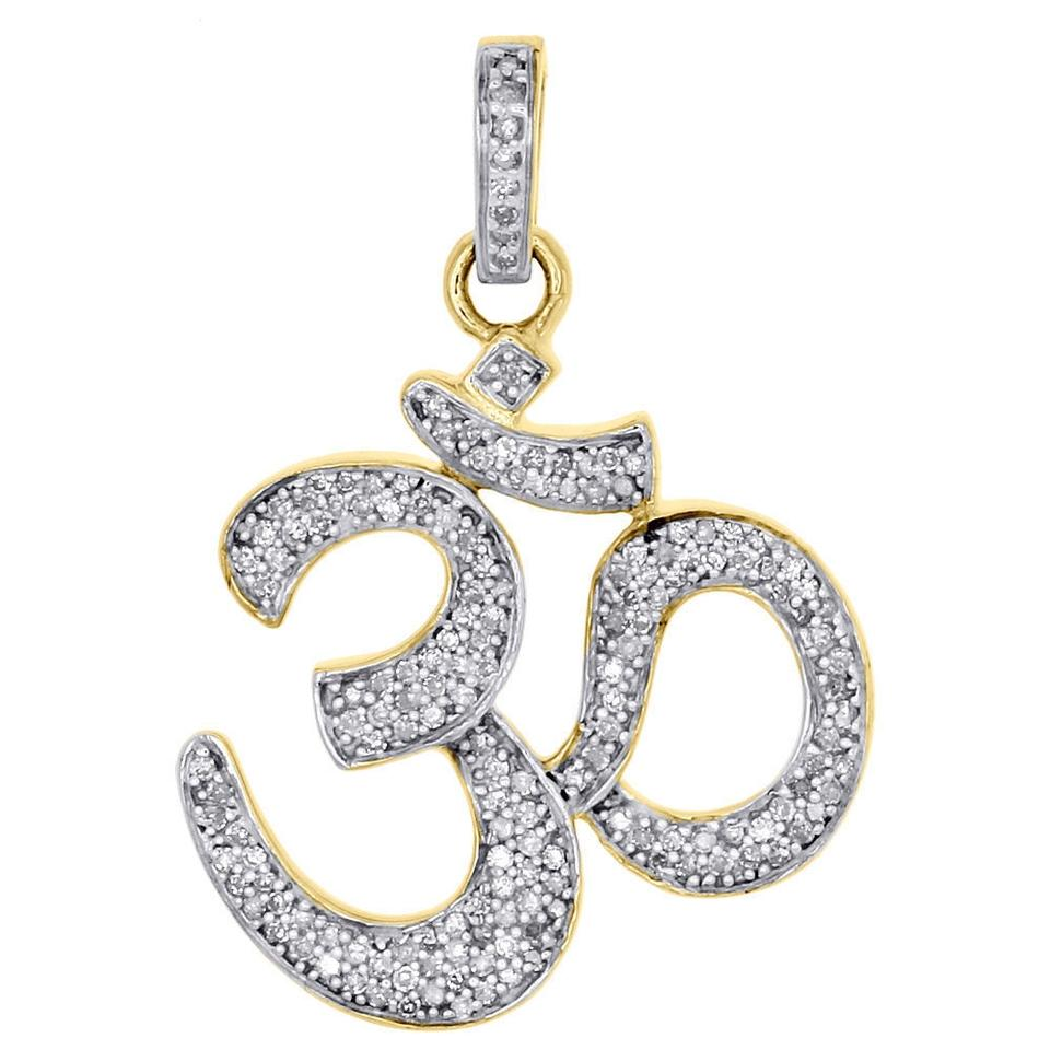 Jewelry for less yellow gold 10k genuine diamond om symbol hindu jewelry for less 10k yellow gold genuine diamond om symbol hindu pendant charm 12 biocorpaavc Images