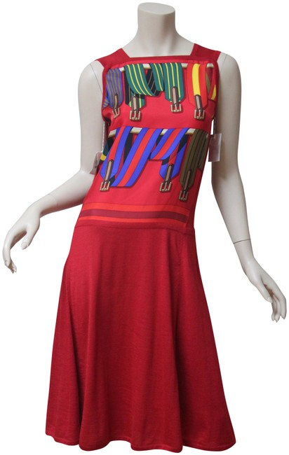 Preload https://img-static.tradesy.com/item/22865157/hermes-red-new-sans-manches-twill-jersey-36-mid-length-cocktail-dress-size-8-m-0-1-650-650.jpg