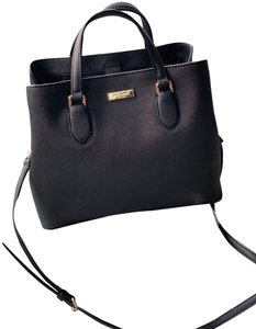 Kate Spade Leather Classic Satchel in Black