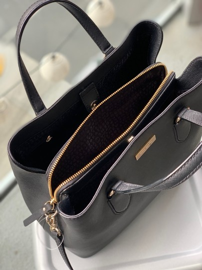 Kate Spade Leather Classic Satchel in Black Image 3